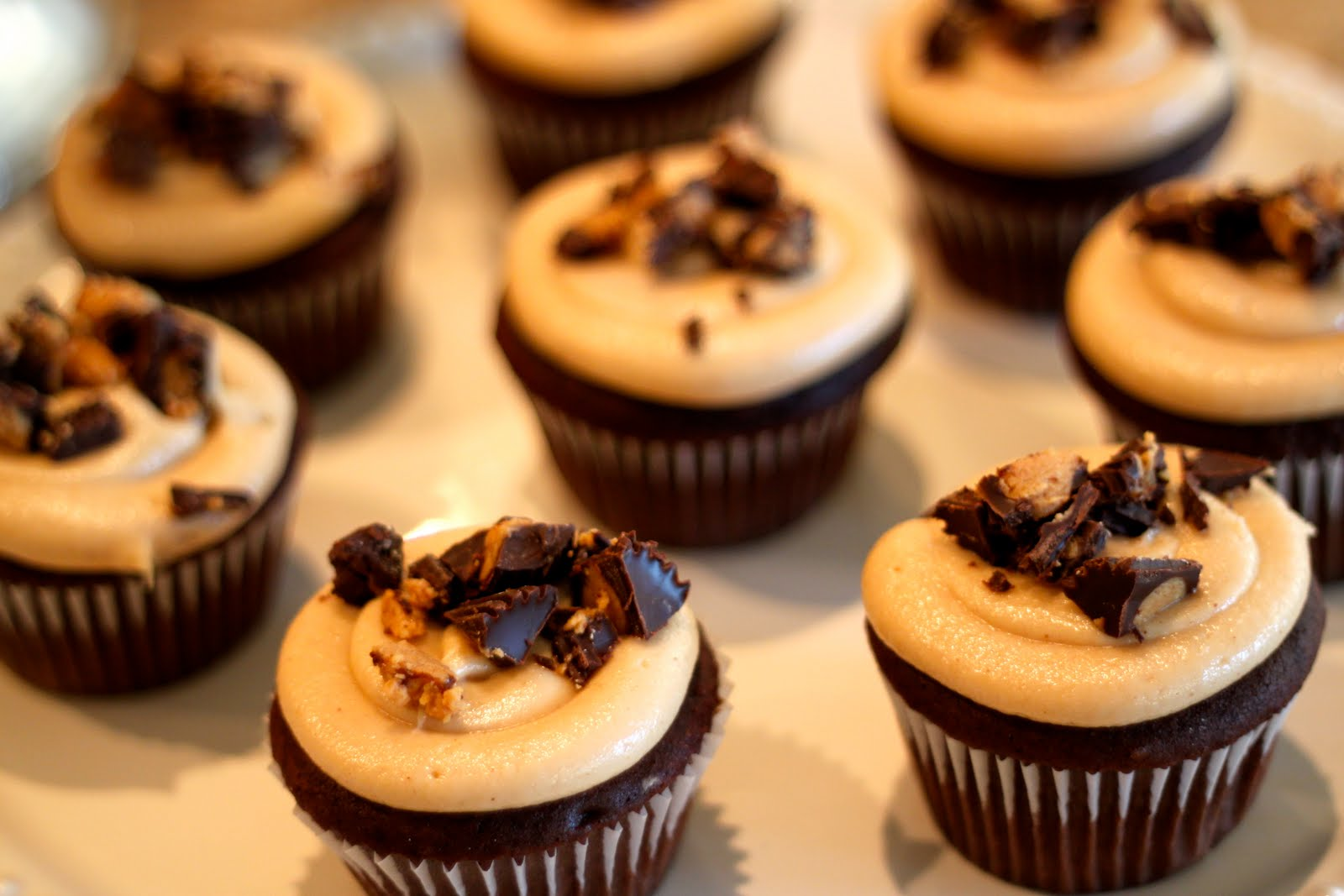 Domestic Charm: Chocolate Peanut Butter Cupcakes