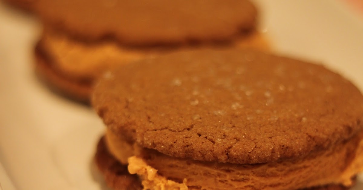 Domestic Charm: Pumpkin Ginger Snap Ice Cream Sandwiches