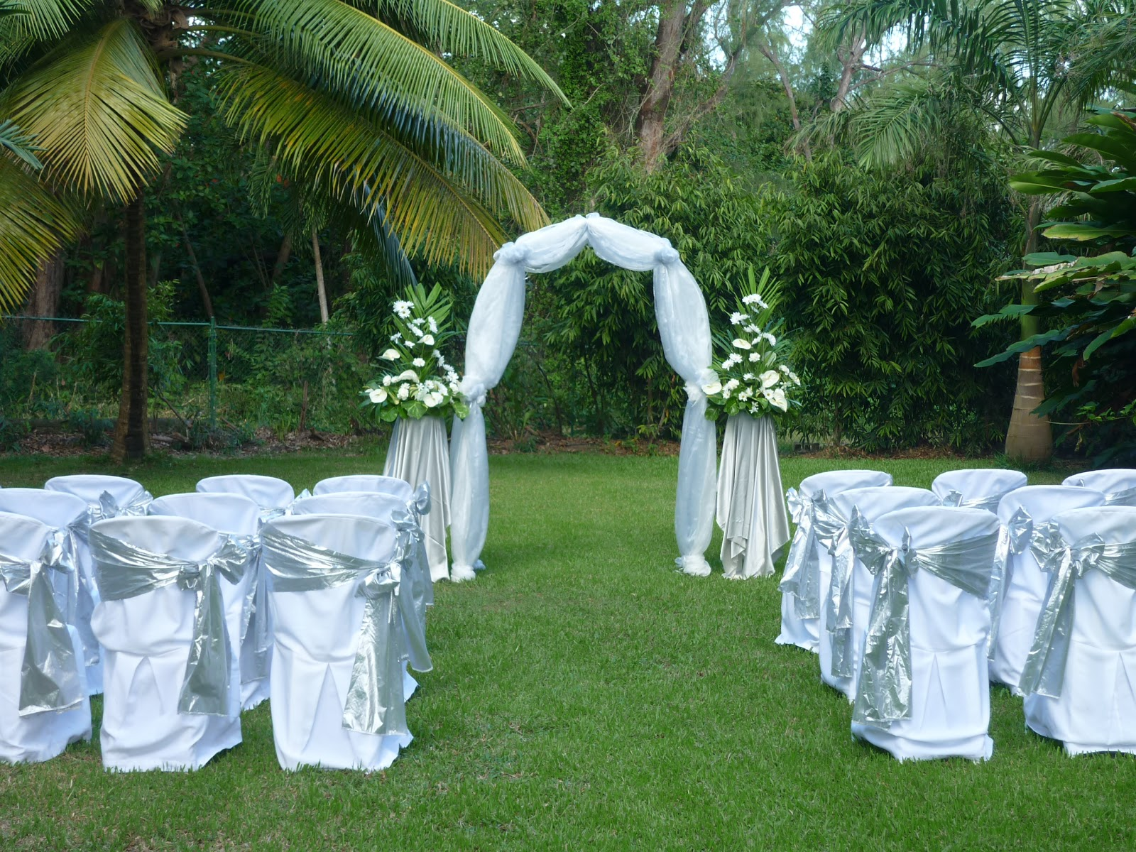 Sunflower events barbados weddings for Archway decoration