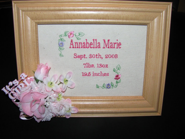 Embroidered Birth Announcements
