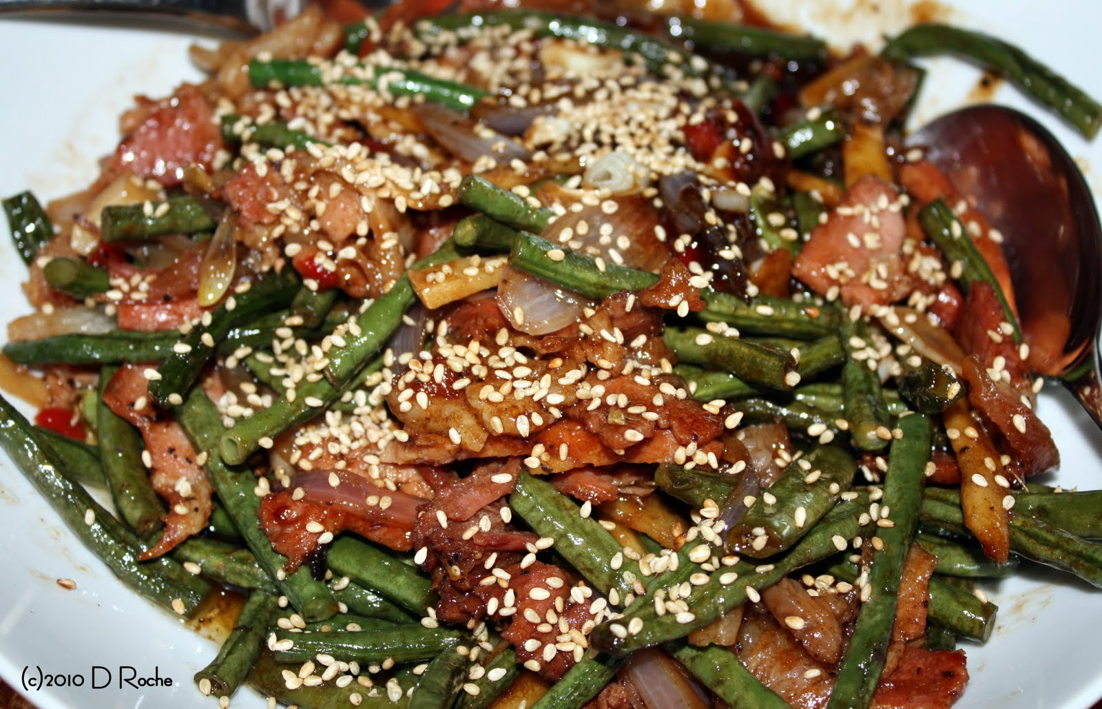In the kitchen with NickChinese Green Beans n Bacon Stir Fry