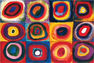 Wassily Kandinsky Color Study, Squares with Concentric ...