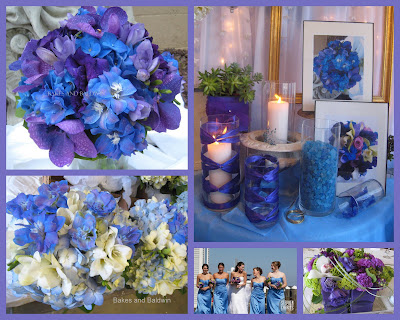 CtWedding FloristTrends Blue and Purple Wedding bouquets