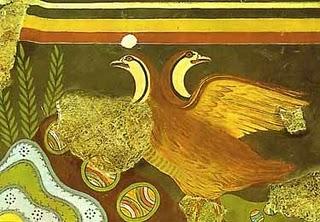 minoan bird fresco Τα μαθηματικά των Μινωιτών.