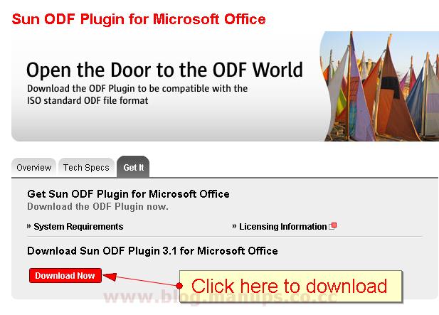 ODF Addin para Microsoft Office  Descargar Gratis
