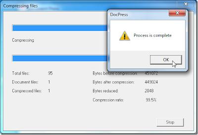 Document Press - programa para comprimir documentos de office