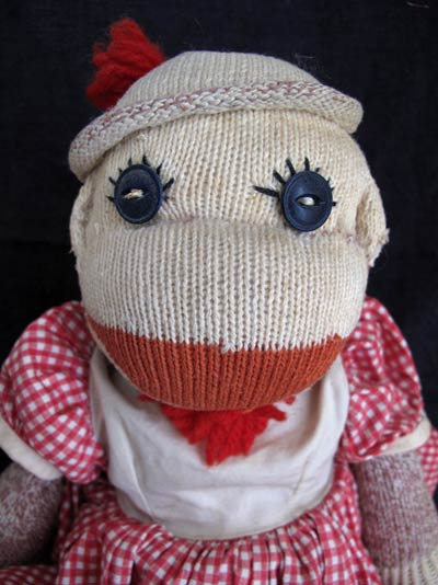 vintage sock monkey