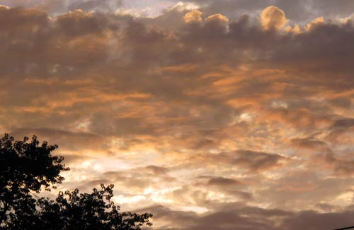 autumn sunrise clouds
