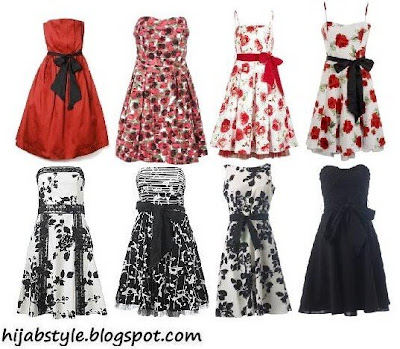 White Graduation Dress on Top Left To Bottom Right