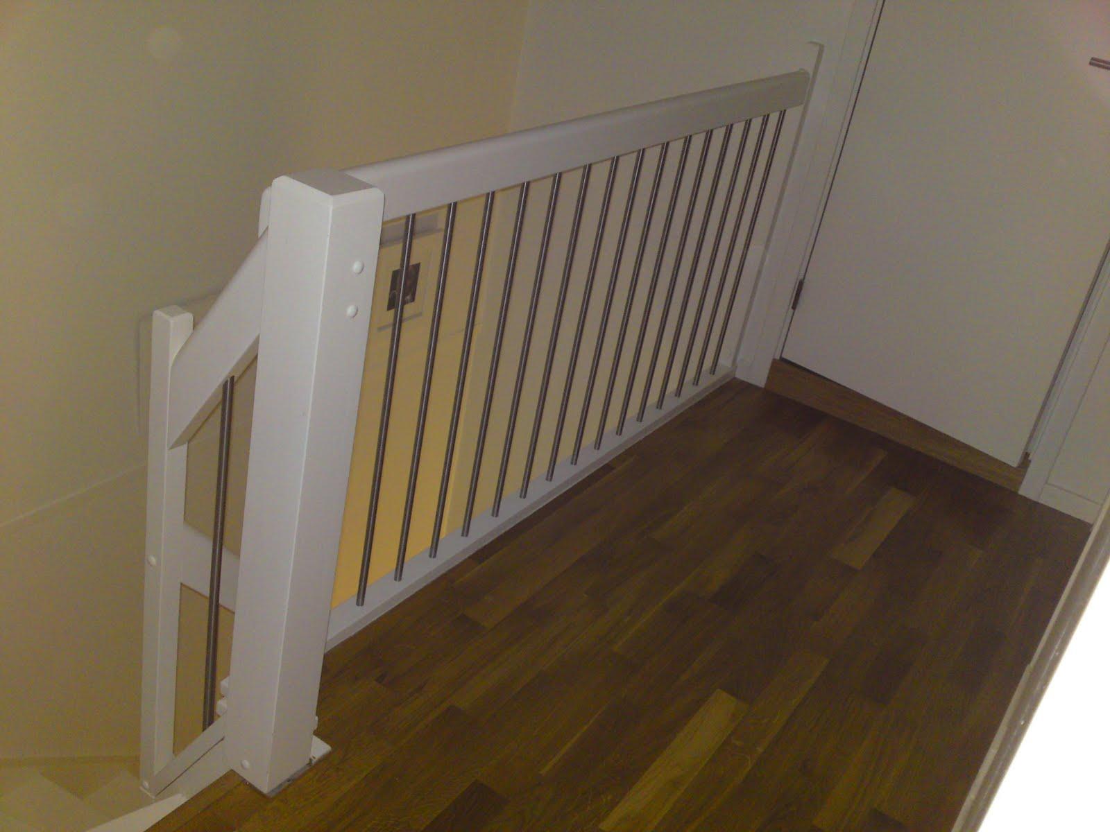 Nytt rekkverk til trapp