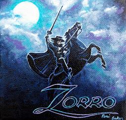 """Zorro 5"""" x 5"""" acrylic gallery wrap"""