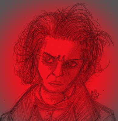 Sweeney Todd as drawn by Amanda