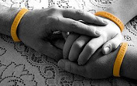 Picture of Hands Wearing Livestrong Bracelets