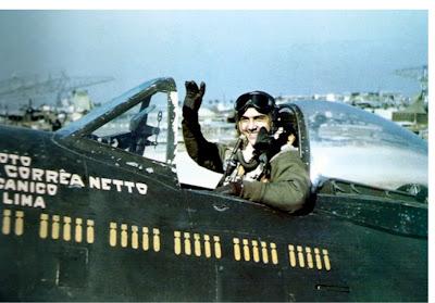 DIA DA AVIAÇÃO DE CAÇA - 1º Grupo de Aviação de Caça Lt+Othon+Correa+Netto+executed+58+combat+missions