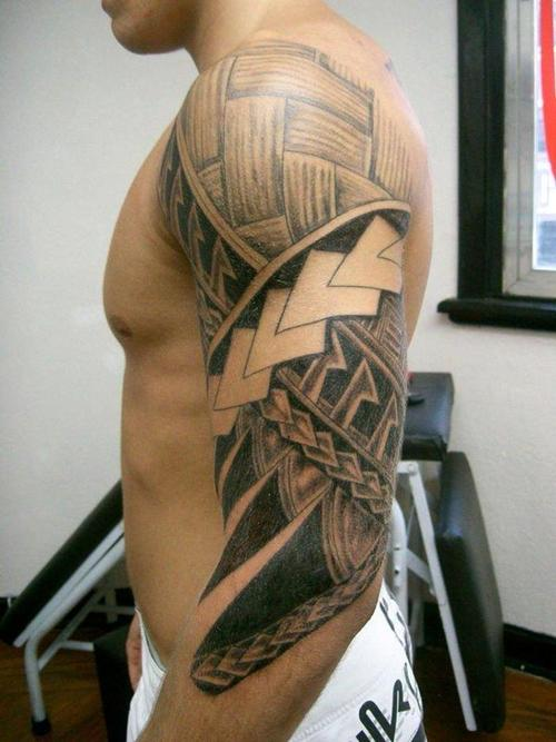 Picture of Tribal Tattoos For Men Upper Arm