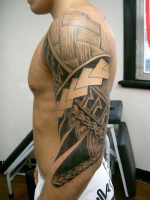 Shoulder Maori Tribal Tattoos For Men 3