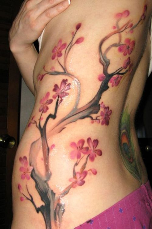 best of japanese tattoo cherry blossom tree branch tattoo designs. Black Bedroom Furniture Sets. Home Design Ideas