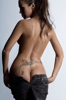 naked girl tattoo Designs