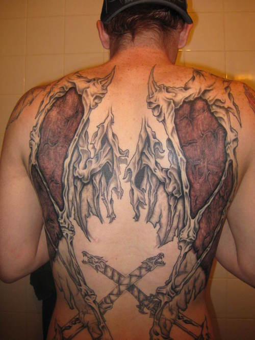 devil angel tattoos