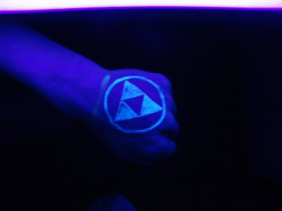And I saw recently about glow in the dark tattoos, although that's going a