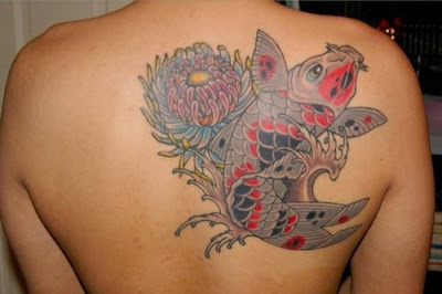 lotus tattoo with koi tattoo picture