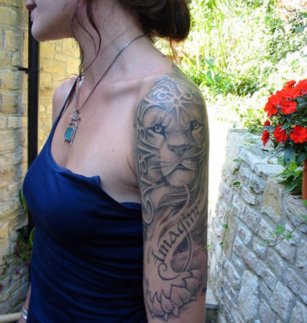 18 Amazing Leo Sleeve Tattoos: LEO TATTOOS For Women