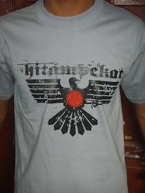 T-shirt Hitam Pekat / abu-abu / M