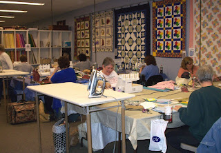 classroom at The Quilted Cottage on Fantastic Friday night