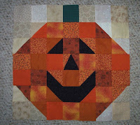pumpkin head quilt block