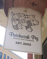 Patchwork Pig shop sign