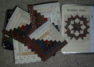broken star log cabin blocks