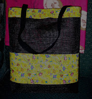 Tote bag with yellow fabric