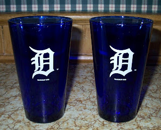 Blue Detroit Tigers glasses