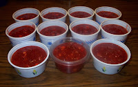 containers of strawberry freezer jam