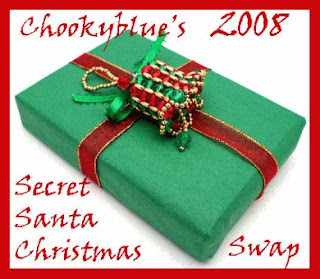 Logo for the swap consisting of a present wrapped in a red bow