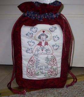 tote bag with my Aunt Millie stitchery