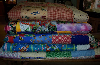 pile of five quilt made for the Underground Railroad