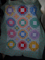 Best Friends quilt top for Clothesline Club made with Darlene Zimmerman fabrics from the 30's
