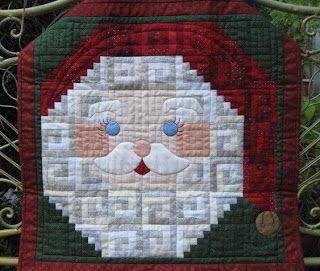 Wallhanging of a Santa's face