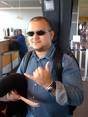 Gabriel embarcando em Austin(Texas) para Ilhéus