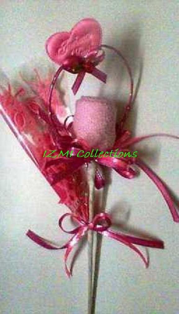 bunga telur saputangan pink rm2 00 bunga telur saputangan green pink