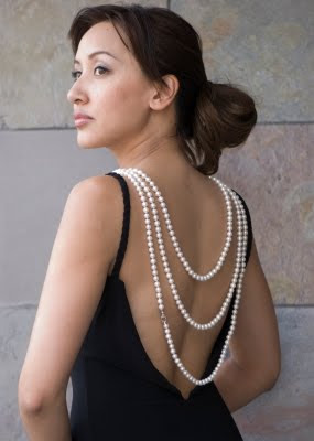 Wear the Strand of Pearls Down the Back