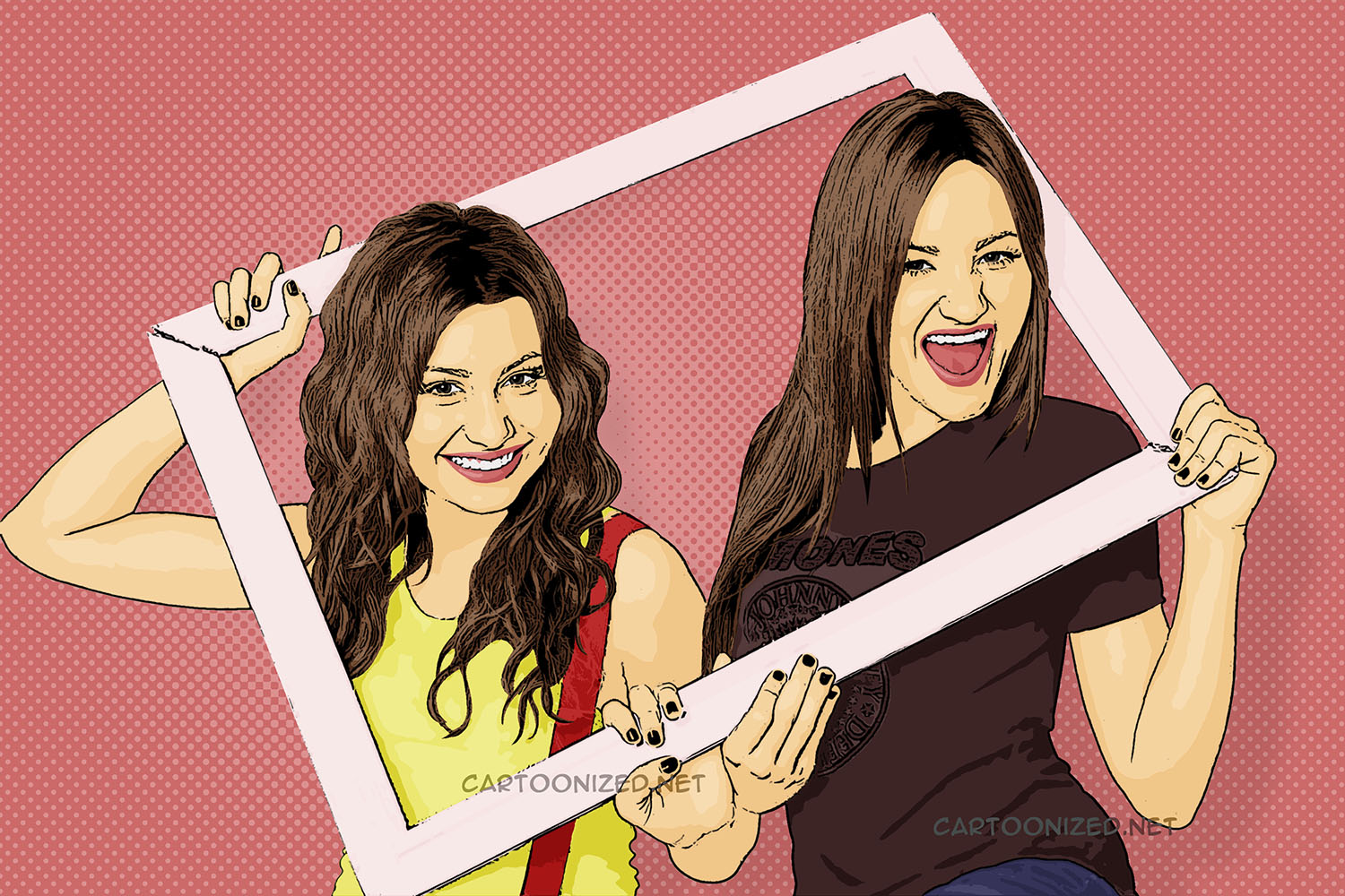 Aly & AJ Cartoon Pictures
