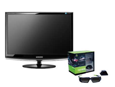 It's also possible to buy the Samsung 2233RZ as a bundle with the glasses kit (The future is 3D)