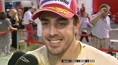 Fernando Alonso singapore 2009 post race interview