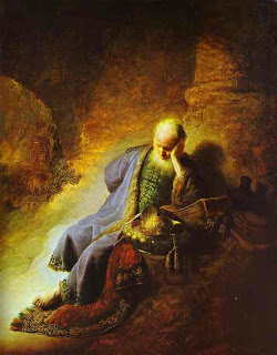 Jeremiah weeping over Jerusalem.