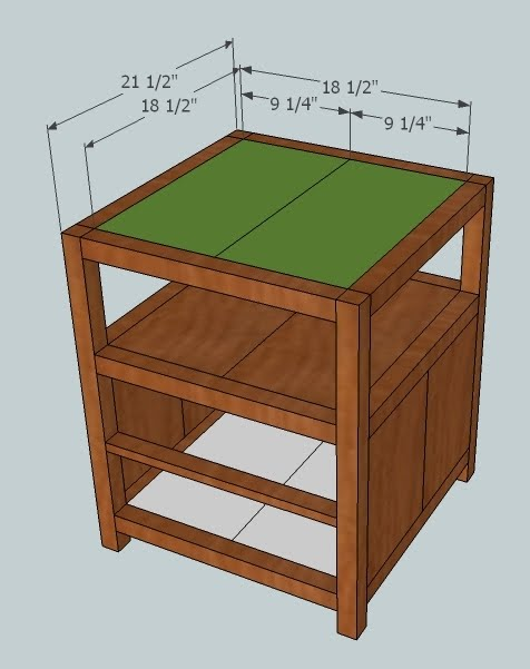More Like Home Plans For An End Table KnockOff - End table with drawer plans