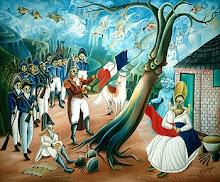 Dessalines crée le drapeau haïtien, en enlevant le blanc du tricolore français