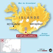 l'Islande et le volcan Eyjafjallajokull