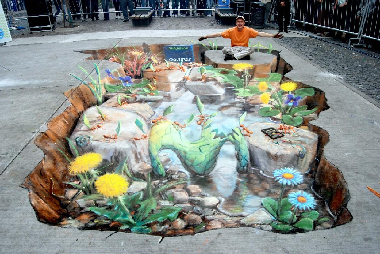 Nambrena Urbano Julian Beever y sus dibujos 3D